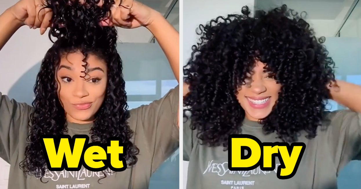 People Are Showing What Their Natural Hair Looks Like Wet Vs. Dry, And The Transformations Are Stunning
